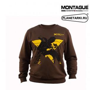Свитшот Montague Starbike коричневый
