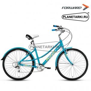 """Велосипед Forward Azure 1.0 26"""" 2016 голубой"""