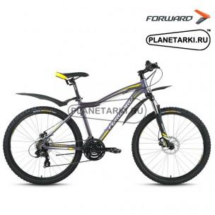 """Велосипед Forward Hesper 2.0 disc 26"""" 2016 серый"""