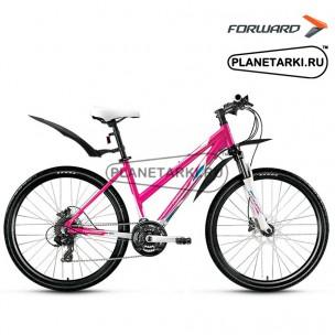 """Велосипед Forward Jade 3.0 disc 26"""" 2016 белый/розовый"""