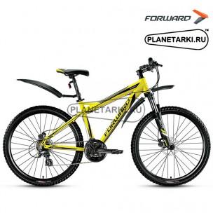 "Велосипед Forward Quadro 2.0 disc 26"" 2016 желтый"