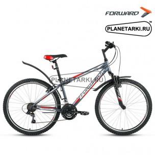 "Велосипед Forward Sporting 1.0 26"" 2017 серый"