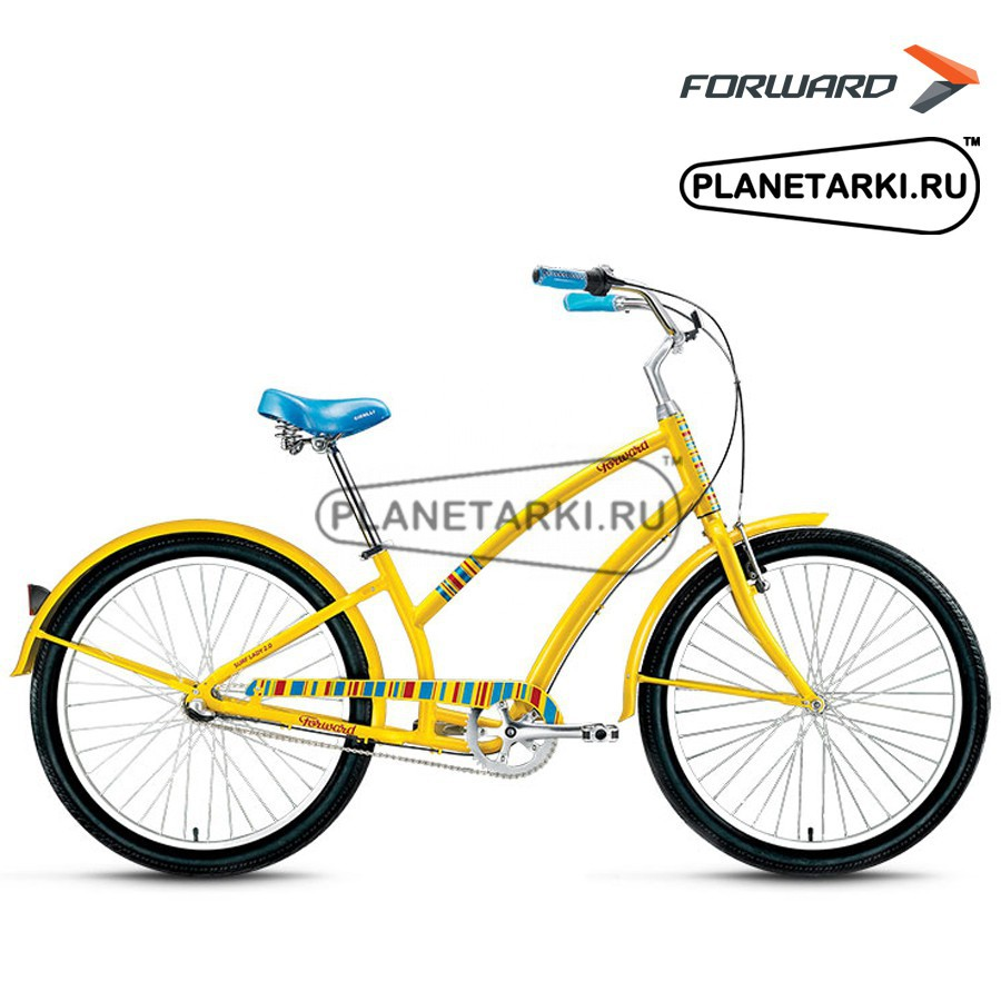 "Велосипед Forward Surf Lady 2.0 26"" 2016 желтый"