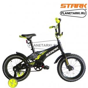 Велосипед Stark Tanuki 14 Boy 2017 черно-зеленый