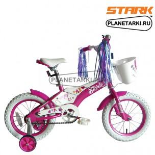 Велосипед Stark Tanuki 14 Girl 2017 розово-белый