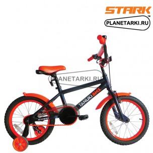 Велосипед Stark Tanuki 16 BMX 2017 черно-оранжевый