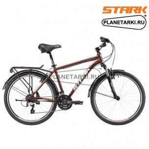 Велосипед Stark Holiday 26.3 V 2017 коричнево-серебристый