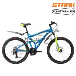 Велосипед Stark Jumper 26.2 FS D 2017 сине-зеленый