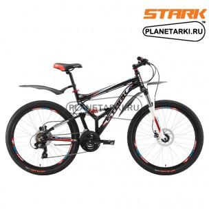 Велосипед Stark Jumper 26.2 FS HD 2017 черно-красный