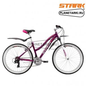 Велосипед Stark Luna 26.2 V 2017 фиолетово-розовый