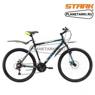 Велосипед Stark Outpost 26.1 D 2017 черно-зелёный