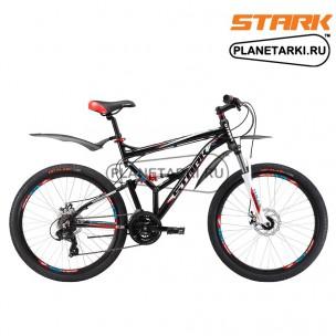Велосипед Stark Jumper 26.2 FS D 2017 черно-красный