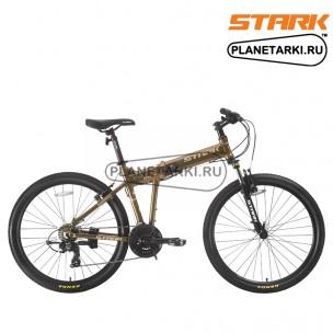 Велосипед Stark Cobra 26.2 V 2017 коричнево-желтый