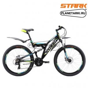 Велосипед Stark Jumper 26.1 FS D 2017 черно-зеленый