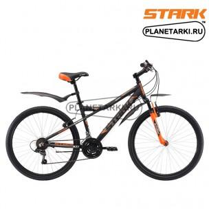 Велосипед Stark Slash 26.1 V 2017 черно-оранжевый