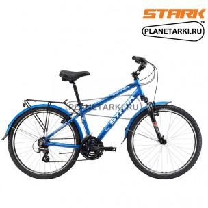 Велосипед Stark Status 26.3 V 2017 сине-серебристый