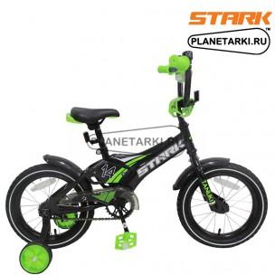 Велосипед Stark Tanuki 14 Boy ST 2017 черно-зеленый