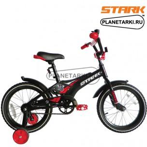Велосипед Stark Tanuki 16 Boy ST 2017 черно-красный