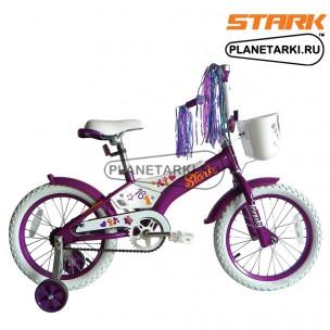 Велосипед Stark Tanuki 16 Girl 2017 фиолетово-белый