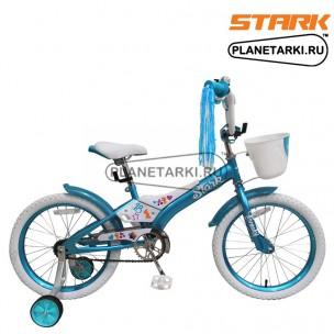 Велосипед Stark Tanuki 18 Girl ST 2017 сине-белый