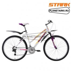 Велосипед Stark Luna 26.1 V 2018 белый/фиолетовый/жёлтый