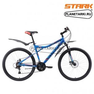 Велосипед Stark Slash 26.1 D 2018 голубой/чёрный/красный