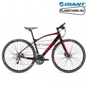 Велосипед Giant FastRoad SLR 1 2017 черный/красный/оранжевый
