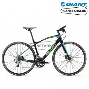 Велосипед Giant FastRoad CoMax 2 2017 черный/зеленый/синий