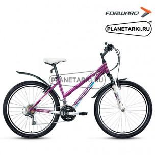 """Велосипед Forward Iris 1.0 26"""" 2016 белый/сиреневый"""