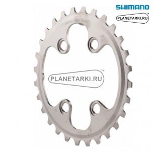 Ведущая звезда Shimano XT для FC-M8000-2, 28T, BCD 64, серебро, Y1RL28000