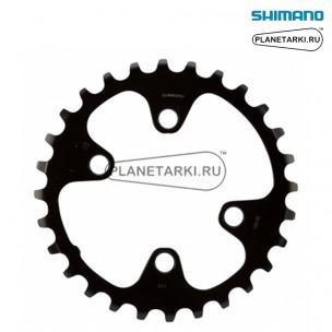 Ведущая звезда Shimano SLX для FC-M7000-2, 28T, BCD 64, черный, Y1VG28000