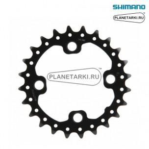 Ведущая звезда Shimano SLX для FC-M675, 24T, BCD 64, черный, Y1NA24000