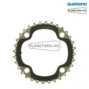 Ведущая звезда Shimano SLX для FC-M672, 30T, BCD 96, черный, Y1NW98010