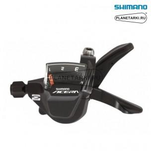 Шифтер Shimano Acera SL-M3000, левый, 3 ск., черный, ESLM3000LB
