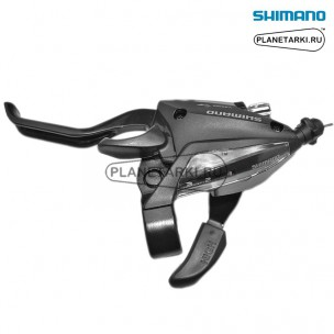Комбошифтер Shimano Tourney EF500, левый, 3 ск., черный, ESTEF5002LSBL