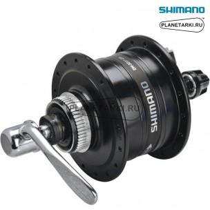 Динамо-втулка shimano 3D37 center lock черная, 32 отверстий