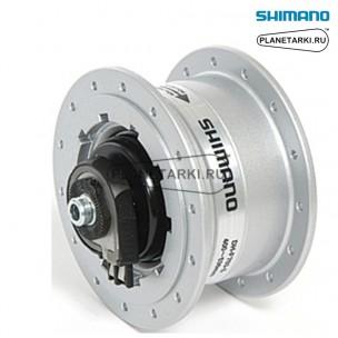 Динамо-втулка shimano Capreo F703-S серебристая, 28 отверстий