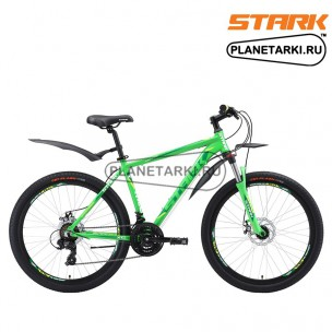 Велосипед Stark Hunter 26.2 D 2018 зелёный/тёмно-зелёный/белый