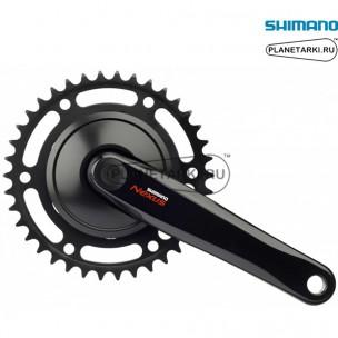 система shimano nexus fc-c6000, черная