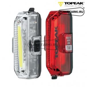 Комплект фонарей с зарядкой USB TOPEAK AERO USB 1W COMBO