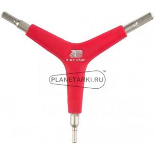 ключ шестигранный bike hand yc-356ya(4/5/6мм)
