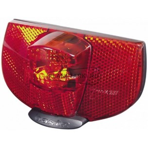 задний фонарь axa reflector/rear light ray led 80mm assembly для динамок крепление на багажник