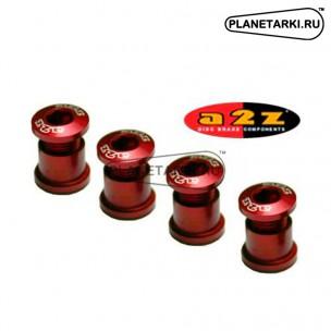 Бонки A2Z 1x-Ring 7075-T6 комплект (4 шт) красные