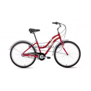 """Велосипед Forward EVIA AIR 2.0 26"""" 2019 темно-красный"""