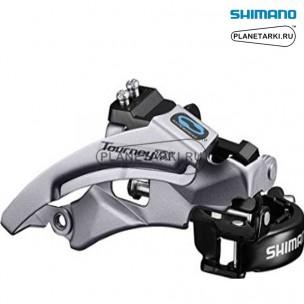 переключатель передний shimano tourney fd-tx800 серебро, efdtx800tsx6