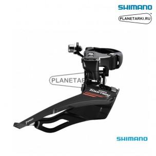переключатель передний shimano tourney fd-a073a черный, efda073x3