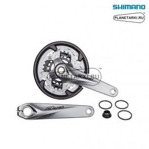 система shimano alivio fc-m4060, BCD 104/64, серебро, efct4060ex866cs