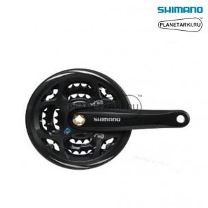 система shimano altus fc-m311 черный, efcm311c888cl