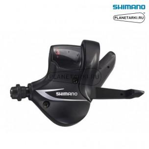 шифтер shimano acera sl-m360, левый, 3 ск., черный, eslm360lbt