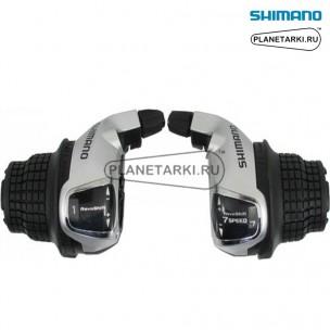 шифтер shimano tourney sl-rs45, пара, 3х7 ск., серебро, eslrs45p7a